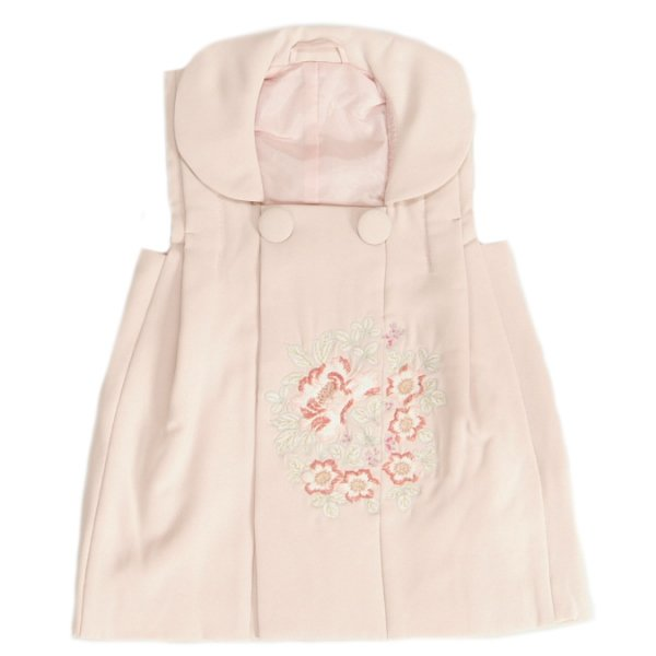 七五三 被布着単品 女の子 着物 3歳 ピンク色 刺繍牡丹 綾織生地 ひな祭り お正月