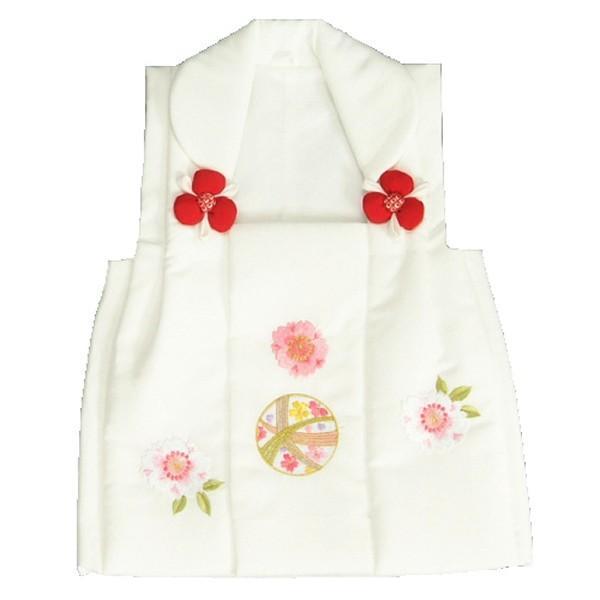 七五三 被布 着物 3歳 京都花ひめ 白 まり桜刺繍使い 七五三 ひな祭り お正月