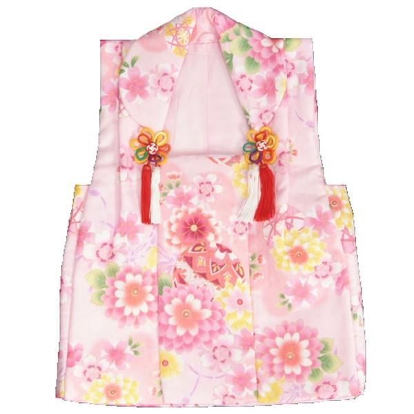 被布 着物 三歳 ピンク 牡丹菊 七五三 ひな祭り お正月 桜地紋生地