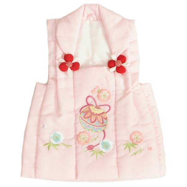 七五三 被布 着物 3歳 京都花ひめ ピンク 鈴桜刺繍使い 七五三 ひな祭り お正月