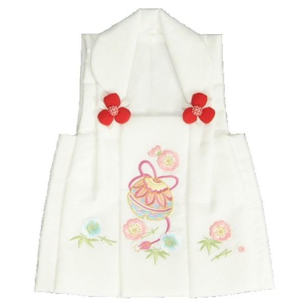 七五三 被布 着物 3歳 京都花ひめ 白 鈴桜刺繍使い 七五三 ひな祭り お正月
