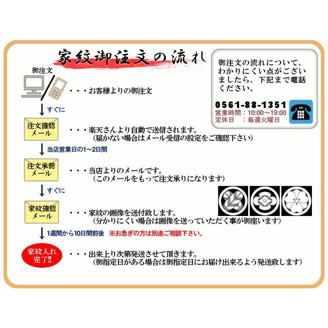 家紋入れ お宮参り着物の初着や七五三着物、羽織などに入れさせていただく摺込み紋 doresukimono-kyoubi 02