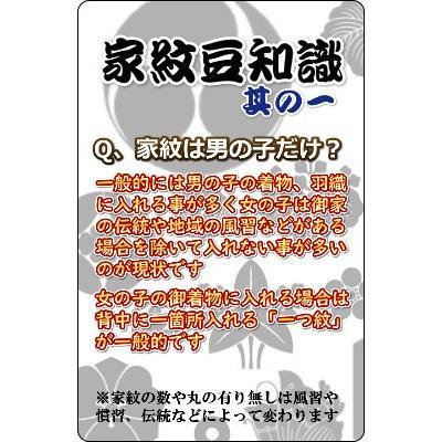 家紋入れ お宮参り着物の初着や七五三着物、羽織などに入れさせていただく摺込み紋 doresukimono-kyoubi 03