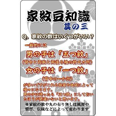 家紋入れ お宮参り着物の初着や七五三着物、羽織などに入れさせていただく摺込み紋 doresukimono-kyoubi 05