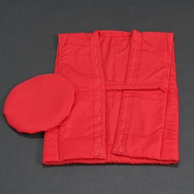 長寿祝着 還暦 ちゃんちゃんこと大黒帽の2点セット 赤色