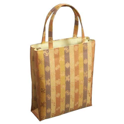金襴バッグ 和洋兼用 礼装及びカジュアルスタイルのサブバッグ 縦型 宝尽くし文様 手提げタイプ 日本製