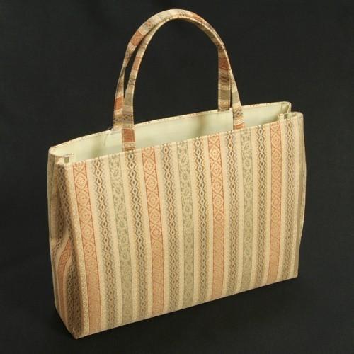 金襴バッグ 和洋兼用 礼装及びカジュアルスタイルのサブバッグ 横型 手提げタイプ 名物裂柄 日本製
