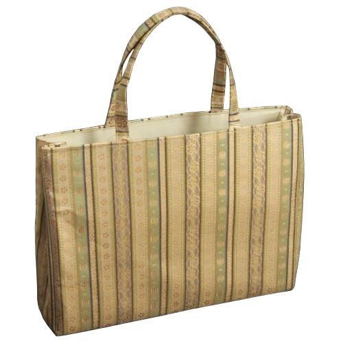 金襴バッグ 和洋兼用 礼装及びカジュアルスタイルのサブバック 横型 手提げタイプ 小柄有職文様 日本製