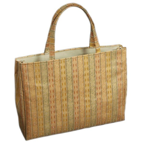 金襴バッグ 和洋兼用 礼装及びカジュアルスタイルのサブバッグ 横型 手提げタイプ 小菊有職文様 日本製