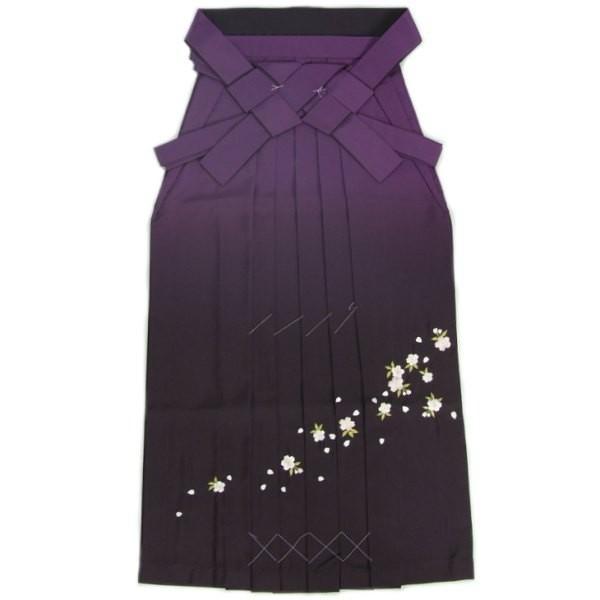 卒業袴 卒業式 パープル 濃淡ぼかし 桜刺繍 へら付き 特価品 S、M、L、LL、3L