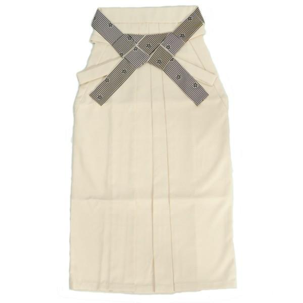 卒業袴 卒業式 ベージュ色 へら付き 紐リバーシブル 縞柄捻り梅 特価品 SS、S、M、L、LL