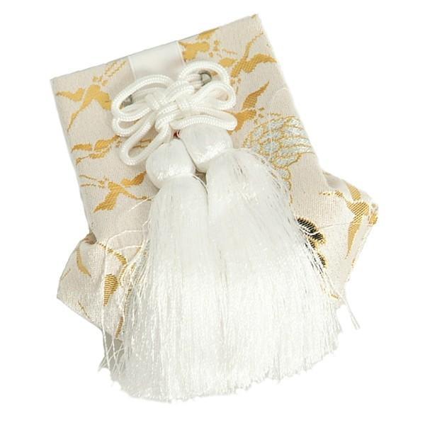 お宮参り小物 お守り袋 単品 白色 化粧箱付 男女兼用 日本製