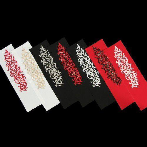 刺繍半衿 幾何学文様 振袖に最適 全7色 日本製