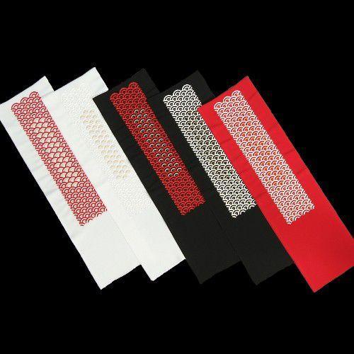 刺繍半衿 青海波文様 振袖に最適 全5色 日本製