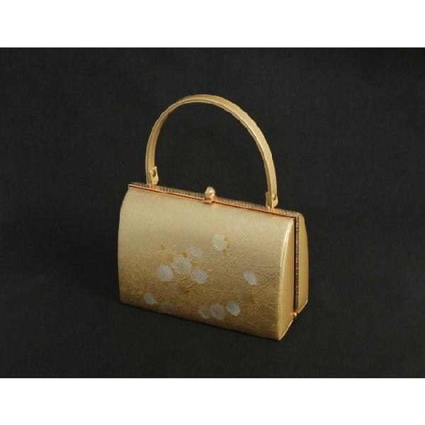草履バックセット 振袖 訪問着 留袖 ゴールド 雲水華柄 一枚芯 フリーサイズ 日本製|doresukimono-kyoubi|04