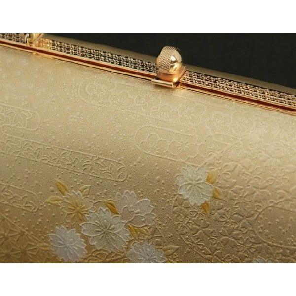 草履バックセット 振袖 訪問着 留袖 ゴールド 雲水華柄 一枚芯 フリーサイズ 日本製|doresukimono-kyoubi|05