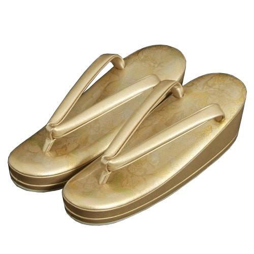 着物草履単品 留袖 訪問着 振袖 ゴールド 蔓蔦 本螺鈿 二枚芯 S・M・Lサイズ 日本製