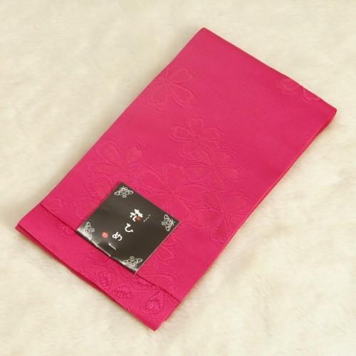 浴衣帯 濃ピンク色 柄タイプ 桜 袴下帯 単(ひとえ)帯 日本製