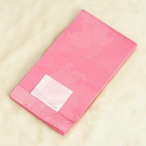 浴衣帯 ピンク色 柄タイプ 百合柄 袴下帯 単(ひとえ)帯 日本製