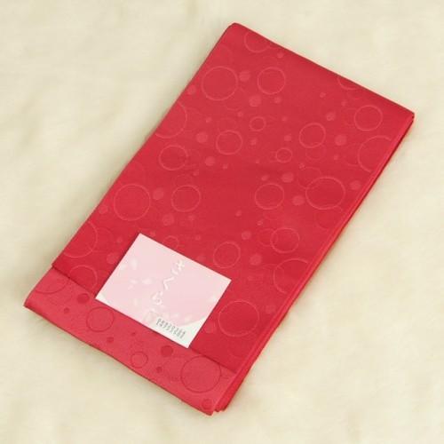 浴衣帯 赤 柄タイプ しゃぼん玉 袴下帯 単(ひとえ)帯 日本製