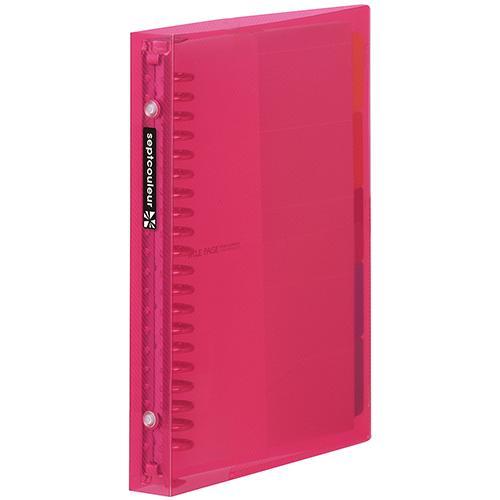 マルマン メタルバインダー セプトクルール A5  20穴 ピンク(ピンク) dotkae-ru02