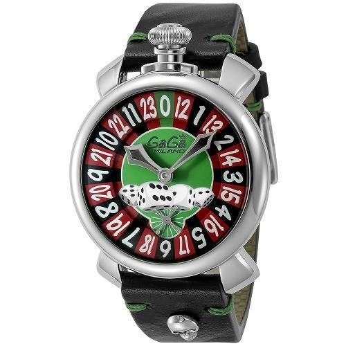 【お1人様1点限り】 GAGA MILANO ガガ ミラノ MANUALE 48MM 5010.LV01 BLK SKULL メンズ 腕時計 5010LV01-BLK-SKULL, うのオンライン fe400d27