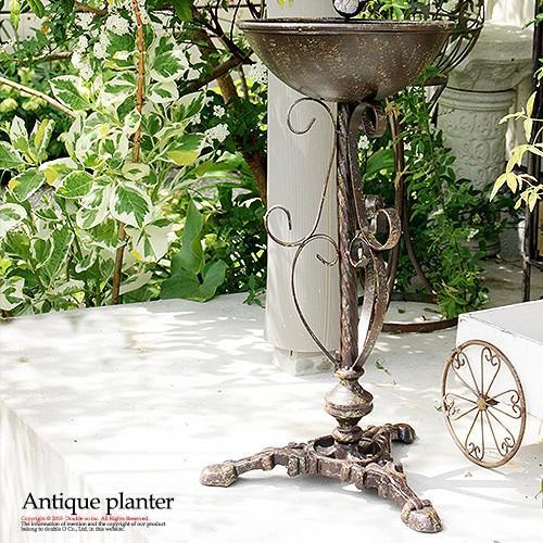 プランター 寄せ植え フラワースタンド スタンド ガーデン雑貨 カップポット アンティーク 10号 鉢 10号鉢