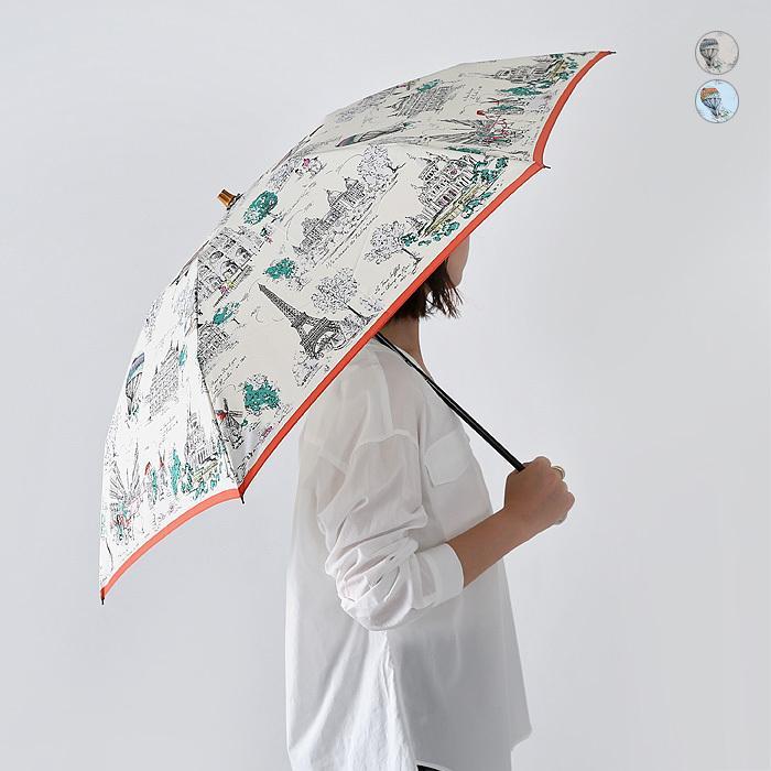 【ネット限定SSセール20%OFF】【21SS】manipuri〔マニプリ〕111672001ヴィレ・トワレ/スカーフプリントバンブーハンドル折りたたみ傘(晴雨兼用)【☆】 douceharmonie-ndc