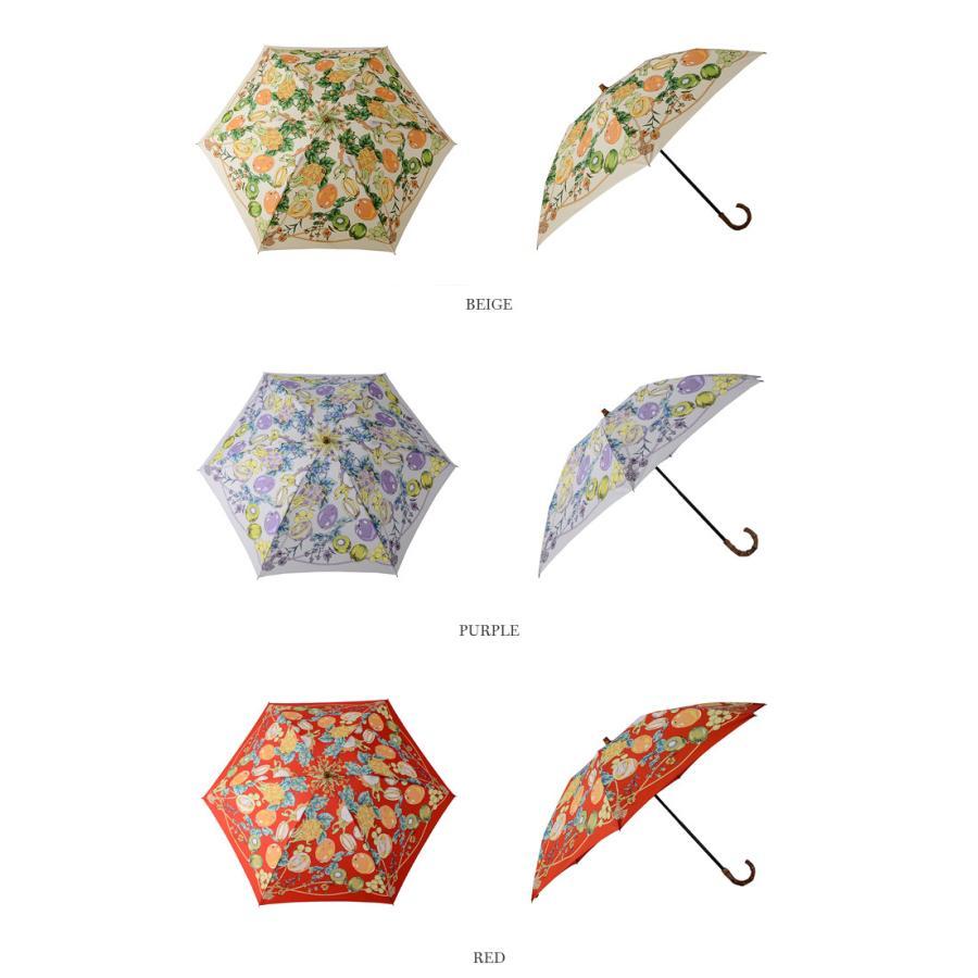 【ネット限定SSセール40%OFF】【21SS】manipuri〔マニプリ〕111672004フラワーフルーツスカーフプリントバンブーハンドル折りたたみ傘(晴雨兼用)【☆】 douceharmonie-ndc 02