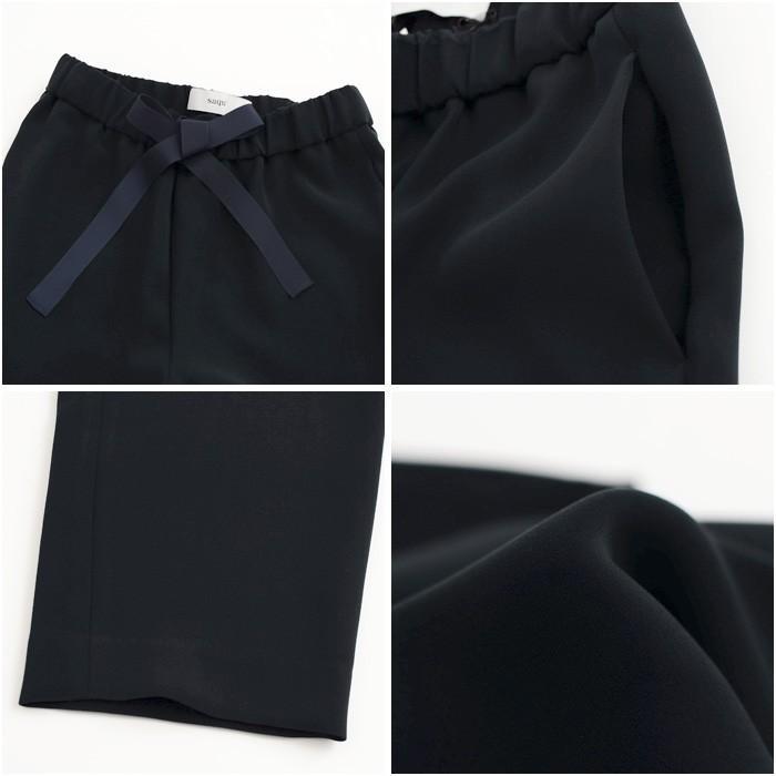 **再入荷【LEE掲載】【21SSコレクション】saqui〔サキ〕18BA02(R)tapered ribbon pants/ファリエロサルティ地テーパードリボンパンツ【P2】【CS】 douceharmonie-ndc 03