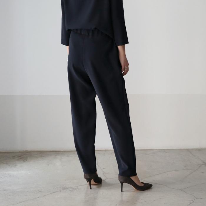 **再入荷【LEE掲載】【21SSコレクション】saqui〔サキ〕18BA02(R)tapered ribbon pants/ファリエロサルティ地テーパードリボンパンツ【P2】【CS】 douceharmonie-ndc 05