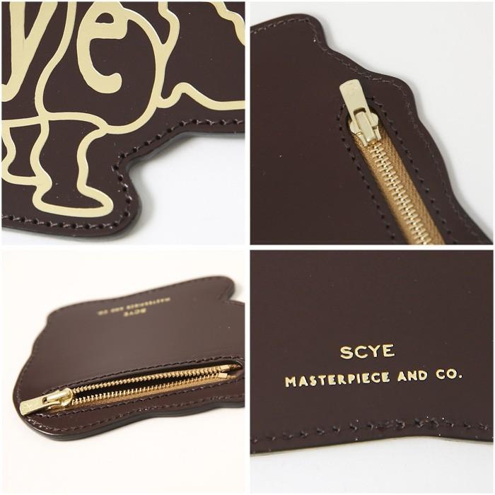 Scye〔サイ〕3319-33321Patent Leather Rhino Coin Purse/エンボスロゴパテントレザーコインパース【P2】|douceharmonie-ndc|03