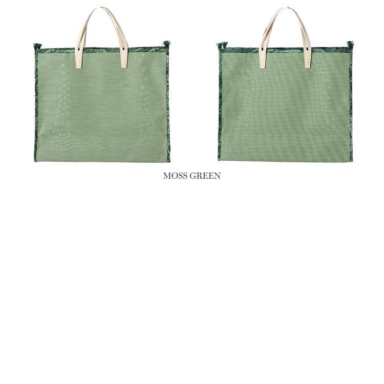 【21SSコレクション】A VACATION〔ア ヴァケーション〕A-26-MGRNTANK PACK/メッシュラージトートバッグ(MOSS GREEN×PAISLEY GREEN)|douceharmonie-ndc|02
