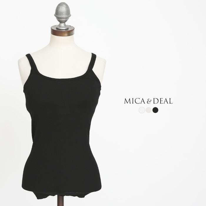 **【21SSコレクション】MICA&DEAL〔マイカアンドディール〕A17A008カップインコットンリブタンクトップ douceharmonie-ndc