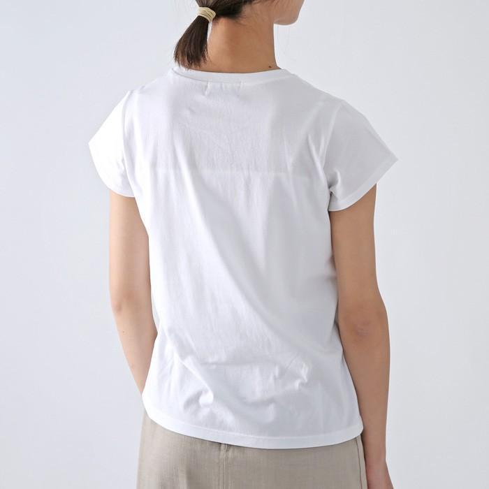 **再入荷THE NEW HOUSE〔ザ ニューハウス〕TNH20100-50SUNFLOWER TEE/コットンフレンチスリーブひまわりプリントTシャツ|douceharmonie-ndc|05