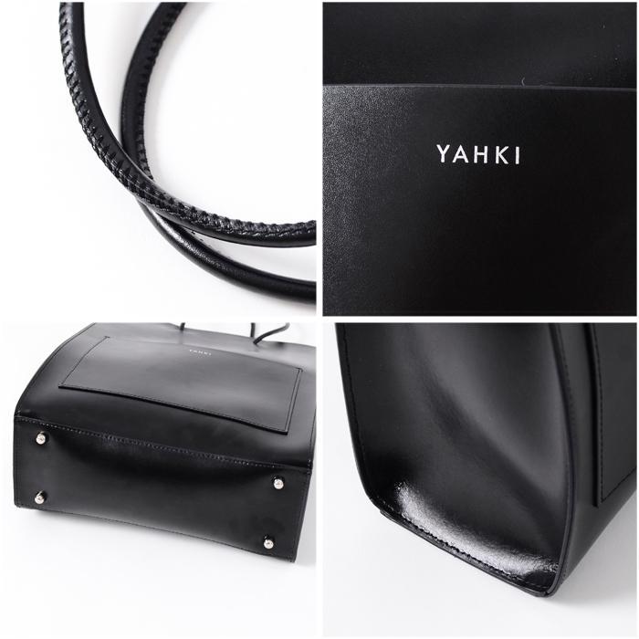 【21AWコレクション】YAHKI〔ヤーキ〕YH-398フロントポケットレザーレクタングルトートバッグ douceharmonie-ndc 03