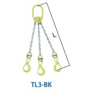 マーテック 3本吊りセット 全長1.5m 使用荷重20.7t TL3-BK16