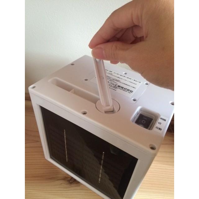 電源不要!センサーライト 四角い置き型「キューブ」 ハンドル&壁かけ金具付き ソーラー&手巻き充電|dougumanzoku|05