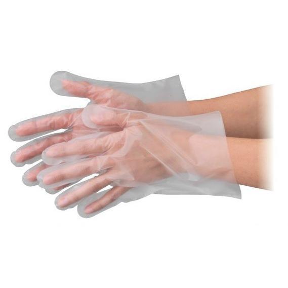 エブノ ポリエチレン手袋 No.3002 SS 半透明 6000枚入(100枚×60箱) エブケアエンボス25 箱入