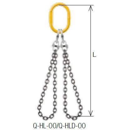 キトー クウォードスリング Q-HL-OO 8mm リーチ1.5m 《キトーチェンスリング100【標準セット品】(アイタイプ)》