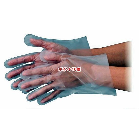 【ポイント10倍】 エブノ ポリエチレン手袋 No.3001 L 半透明 6000枚入(100枚×60袋) エブケアエンボス 25袋入