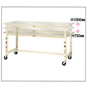 【ポイント10倍】 【ポイント10倍】 【直送品】 山金工業 ヤマテック ワークテーブル SWS3AC-1875-SI 【法人向け、個人宅配送不可】