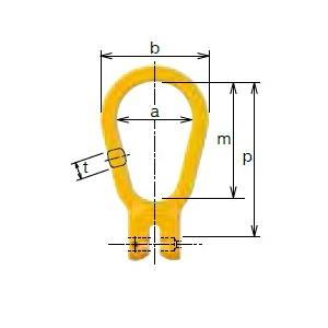 【ポイント5倍】 キトー ツリカナグ VE2200 《キトーチェンスリング100【カナグ部材】(ピンタイプ)》