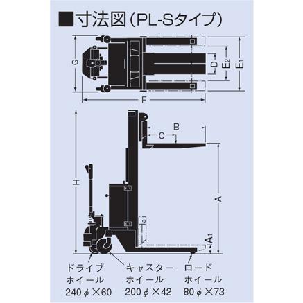 【ポイント5倍】 【直送品】 をくだ屋技研 (OPK) 自走式パワーリフター (PL-Sタイプ) PL-S800-15 【送料別】