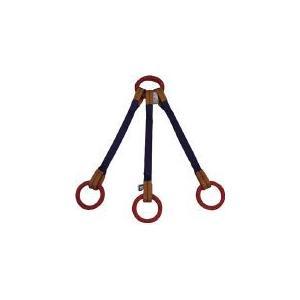シライ (東レ) 金具付 シグナルスリング(トリプル形) KTRR 4.5t×2m