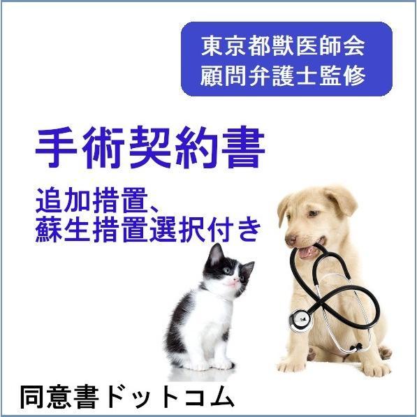 手術契約書(追加措置、蘇生措置の選択付)ひな形|douisyo