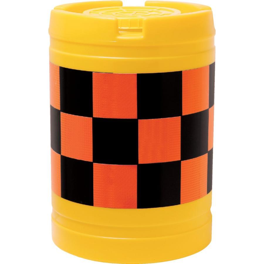 クッションドラム バンパードラム 20L水袋5枚付 オレンジ(高輝度反射)/黒(無反射) 車への注意喚起 安全対策に