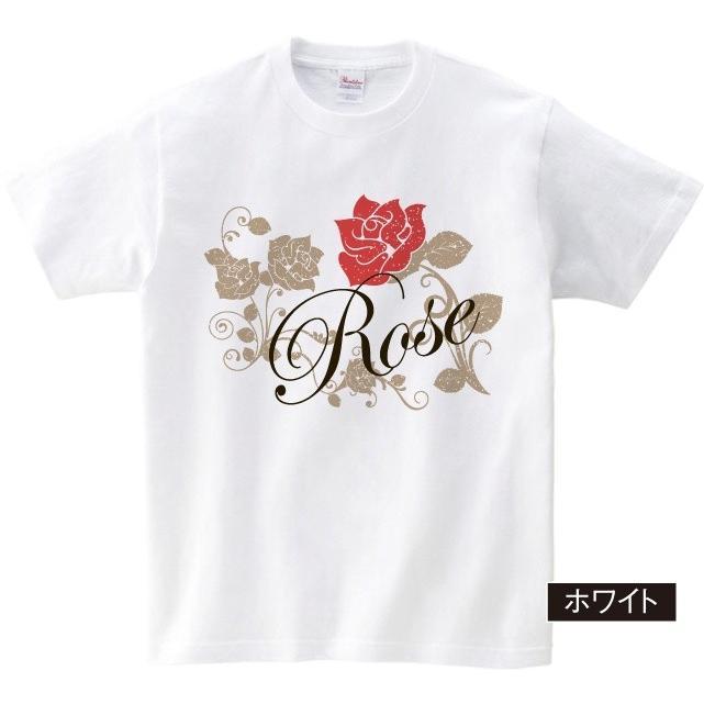 イラストTシャツ Rose バラ メンズ S〜XXXLサイズ 大きいサイズ ビッグ BIG dpop 02