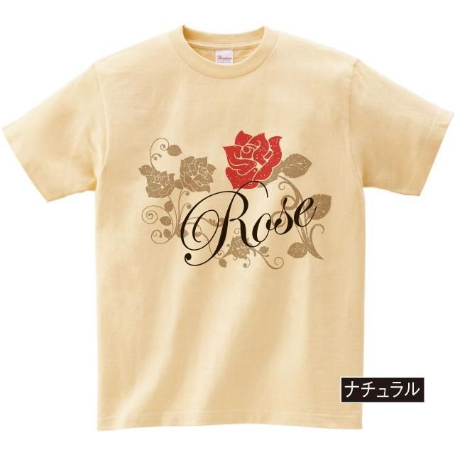 イラストTシャツ Rose バラ メンズ S〜XXXLサイズ 大きいサイズ ビッグ BIG dpop 05