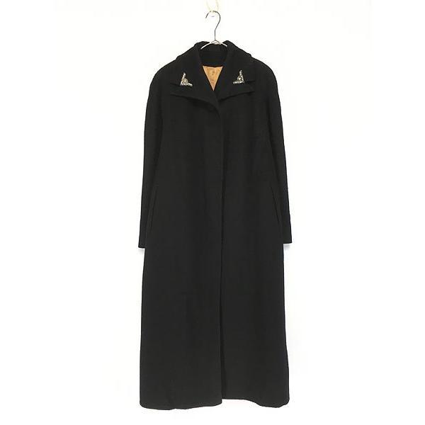 新品?正規品  古着 レディース コート 50s Roth-Form Exclusive 襟 装飾 前開き ウール ロング コート L位 古着, 最新発見 c2ab2ca9